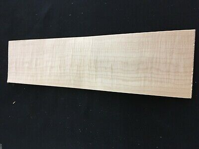Curly Maple Flat Sawn Raw Wood Veneer Sheets 5 X 19.75 Inches 142nd Lot 89
