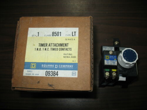 New Square D 8501 LT Timer Attachment 8501LT