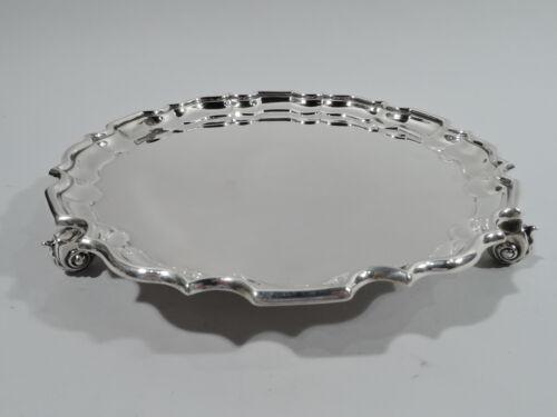 Howard Salver - 346 - Antique Georgian Piecrust Tray - American Sterling Silver