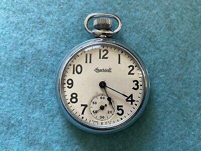 Vintage Ingersoll Mechanical Wind Up Pocket Watch