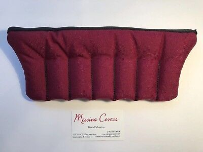 Messina Covers SEVEN 7 Trumpet Mouthpiece Case Pouch Burgundy Wine Maroon Red