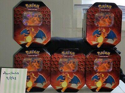 Pokemon Charizard GX Hidden Fates Tin New Factory Sealed - lot of 5