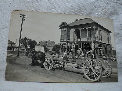 Raising A Victorian House   Adding Another Story Underneath Early 1900S  Rppc