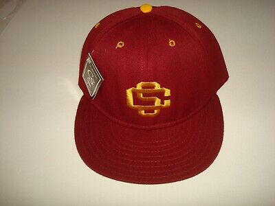USC TROJANS CLASSIC CALIFORNIA SOCAL FITTED SZ 7 1/8   HAT CAP VINTAGE 1990'S  for sale  Englewood