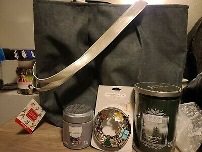 Yankee Candle Set 22 oz Evergreen Mist. Illuma Lid. Balsam & Clove Spheres 2020