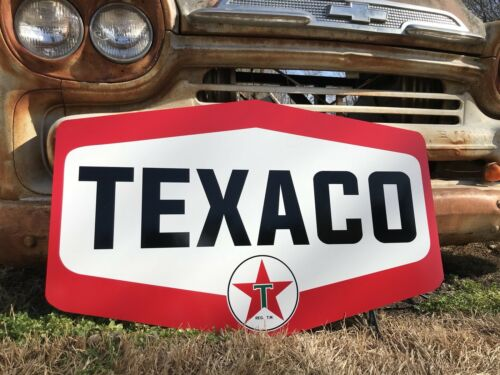Antique Vintage Old Style Texaco Motor Oil Gas Sign!