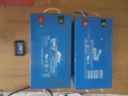 2x 12v 260 AH Deep cell  Battery with 20amp solar charge controlr