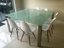 Glass dining table and chairs Keilor East Moonee Valley Preview