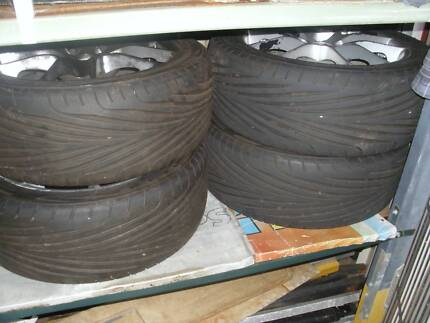 FOUR 4x100 pcd ROH mags & FIVE 205 45 16 tyres Bullsbrook Swan Area Preview