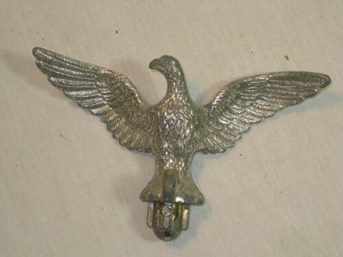 "ornate vintage metal eagle flag topper finial topper top detail 5"" wingspan"