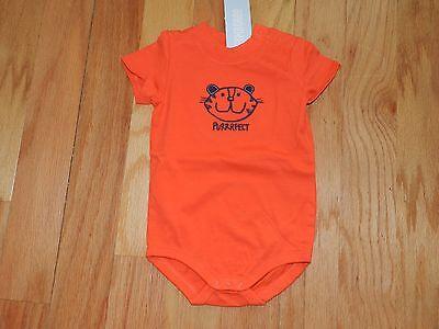 (NWT Gymboree Infant Boy Orange Purrrfect Cat Face Bodysuit 6-12 mos)