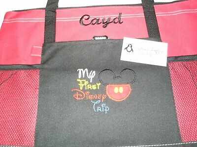 My 1st trip to Disney Mickey Personalized Tote Bag Any color Mickey Tote Bag](Personalized Disney Tote Bags)