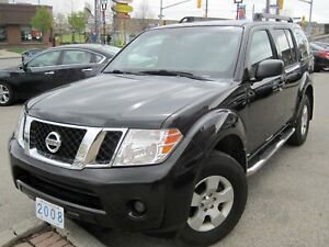 2008 NISSAN PATHFINDER S |Running Boards• 7 Pass. • 4x4