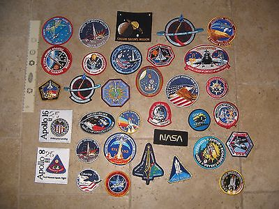 "(33) Different NASA SPACE SHUTTLE Crew Mission Astronaut Patches Lot 3"" to 4"""