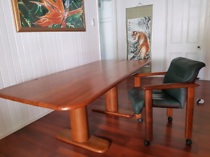 Coconut wood dining table and chairs South Brisbane Brisbane South West Preview