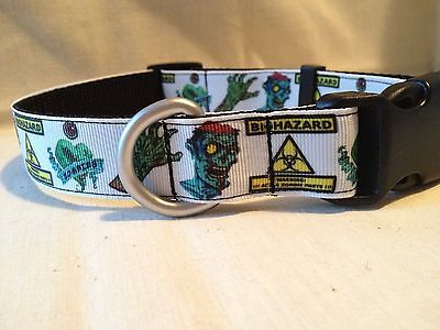"Zombie Ribbon Dog Collar, 1""Adjustable Ribbon Dog collar"