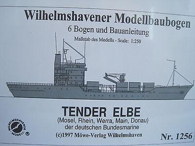 Elbe Tender Schiff Wilhelmshavener Modellbaubogen Bastelbogen Kartonmodel
