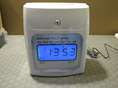 Yescom Employee Attendance Punch Lcd Display Time Clock