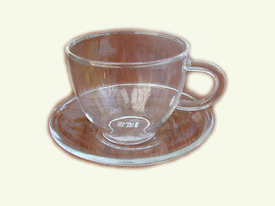 small glass tea/coffee/espresso cups(90ml) and saucer set x 2 & free tea sample