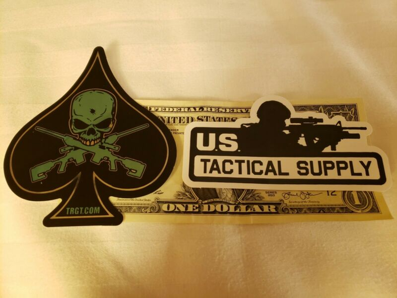 A pair of U.S.Tactical Supply Sticker authentic