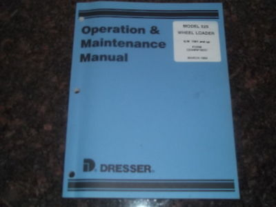 Komatsu Dresser 525 Wheel Loader Operation Maintenance Manual