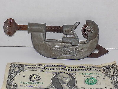 Vintage General Pipe And Tube Cutter Heavy Duty Usa