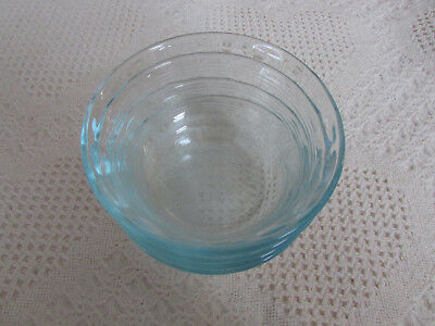 4 Pyrex Clear Glass #464 Fluted 3 Ring Custard Cups Baking Dish Ramekin 10oz VGC
