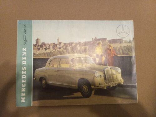 Mercedes 180D Pontoon Sales Brochure - 1950