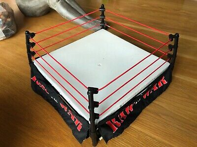 WWF Jakks Pacific RAW IS WAR Monster Wrestling Ring and Wrestlemania deck