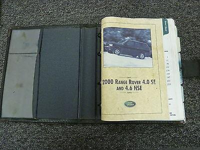 2000 Land Rover Range Rover SUV Owner Manual User Guide Book 4.0 SE 4.6 HSE V8 2000 Range Rover 4.6 Hse