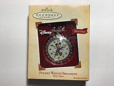 Vintage Disney Mickey Mouse HMK Pocket Watch Hallmark Cards Inc