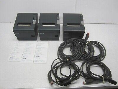 Lot Of 3 Epson Tm-t88v M244a Power Plus Pos Receipt Printers