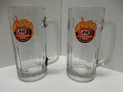"ONE A&W root beer mug with ""All American Food 2012"" logo - 7"" tall - pre-owned"