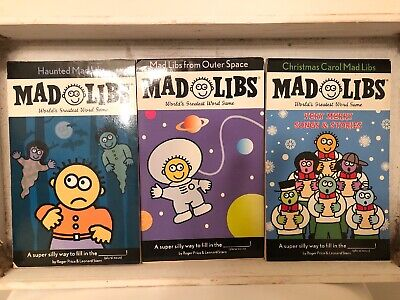 Lot Of 3  Mad Libs-Christmas Carol Mad Libs-Very Merry Songs aRoger Price ()
