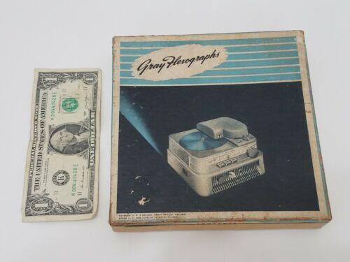 """Gray Flexographs Flexograph 6.5"""" Recording Discs - Box of 55 Vintage Disks"""