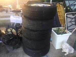 5 alloy wheels and tyres for Pajero IO Golden Beach Caloundra Area Preview