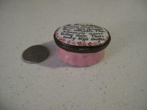 18th Century BATTERSEA BOX Enamel Box Snuff/Patch w Friendship Verse Rev War Era