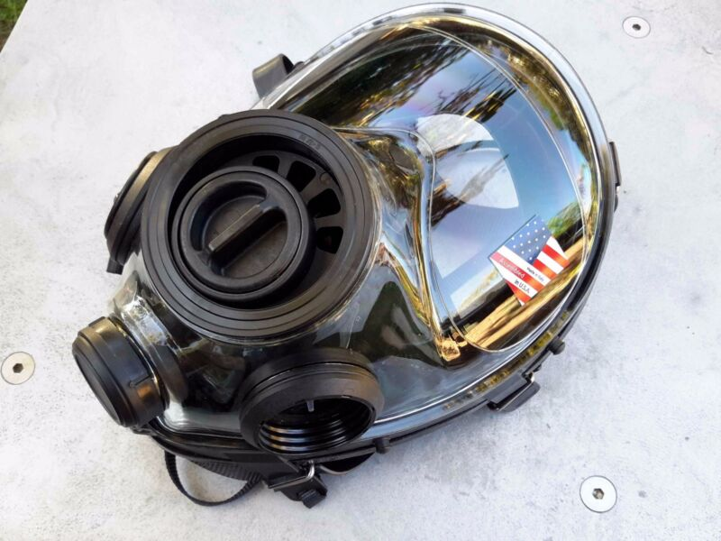 SGE 400/3 Tactical 40mm NATO Gas Mask, for NBC & Impact Protection Made in 2020
