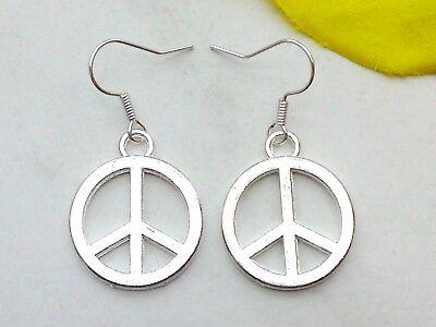 Ohrringe *PEACE Zeichen* Ohrhänger *Frieden Hänger mit Peacezeichen Ohrschmuck