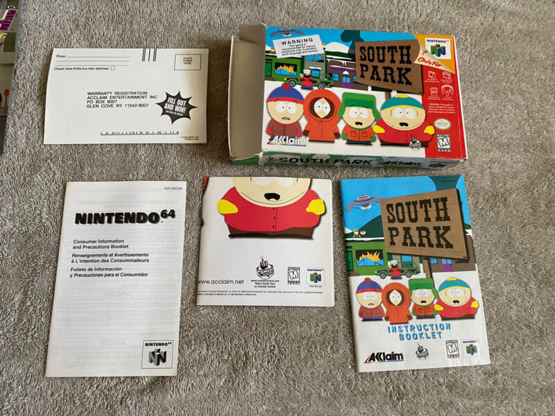 South Park Nintendo 64 N64 Authentic BOX and Manual ONLY