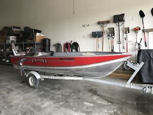 Lund 14ft Fishing Boat and Trailer - 40 hp Mercury - $10,000 obo
