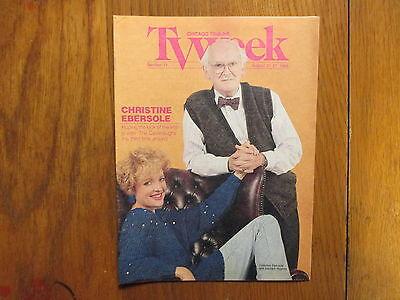 Aug 1988 Chicago Tribune Tv Week  Christine  Ebersole Barnard  Hughes Cavanaughs