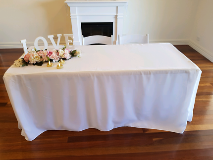 Beautiful, classic wedding signing tables for hire