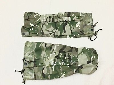 NEW British Army-Issue MTP Gore Tex Gaiters. Size Large.