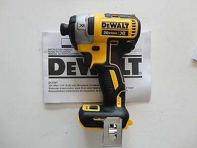 Dewalt Dcf887 20V 20 Volt 1 4  3 Speed Lithium Ion Impact Driver Tool Dcf887b