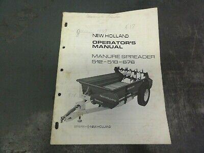 New Holland 512 518 676 Manure Spreader Operators Manual  42051231