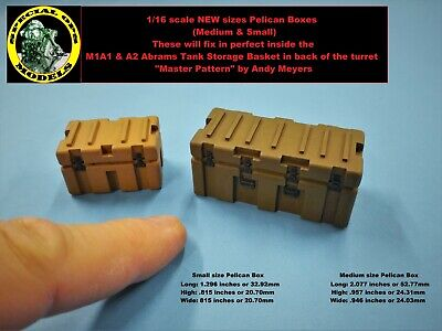 1/16 scale Modern Pelican Box (Medium & Small) M-ATV MRAP M1A1 M1A2 Abrams tank for sale  Shipping to Canada