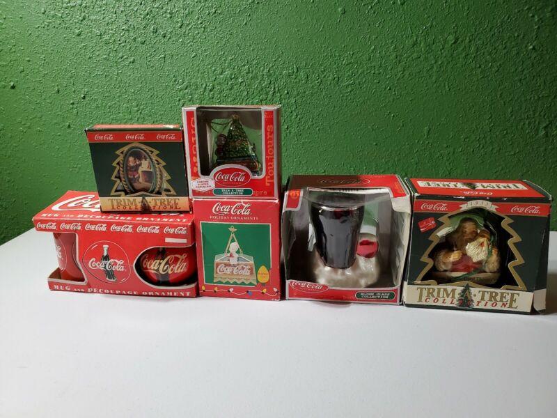 Lot of 6 COCA-COLA Christmas Ornaments