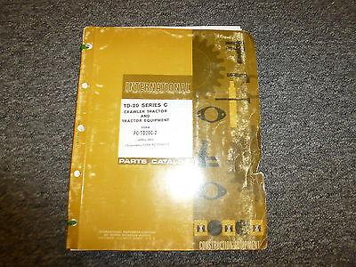 International Harvester Td20c Crawler Tractor Equipment Parts Catalog Manual