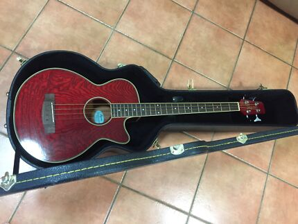 Segovia acoustic/ electric Bass Guitar, strap & hard case Redlynch Cairns City Preview